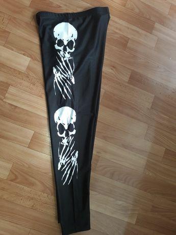 XL. Legginsy leginsy czaszka czaszki Rock Halloween