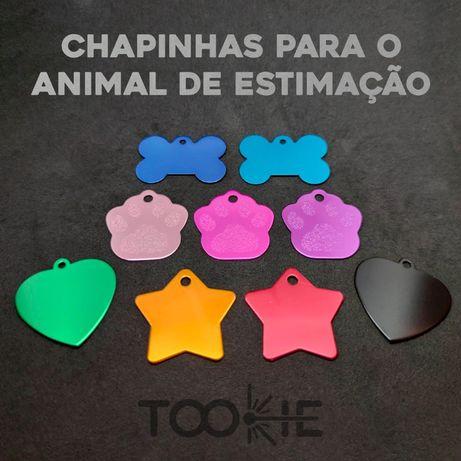 Chapinhas Personalizadas com nome para cão ou gato