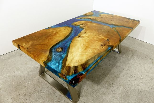 Stół Żywica Epoksydowa Lite Drewno Czeczota Połysk 3D Wild Wood