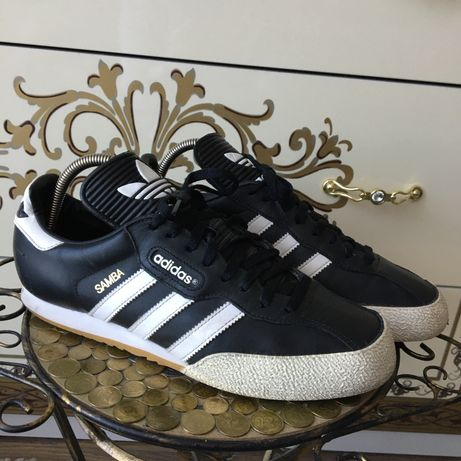 Черные кожаные кеды кроссы кроссовки adidas samba оригинал nike acg 43