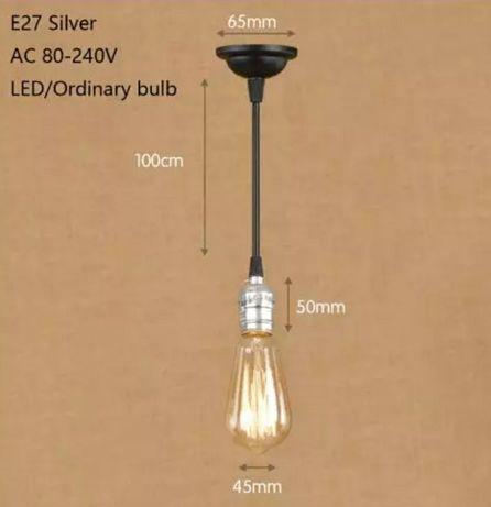 Подвесная лампа люстра светильник компактная ретро е27 кофейни дома