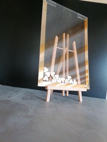 Księga gości tablica serduszka 60x40cm