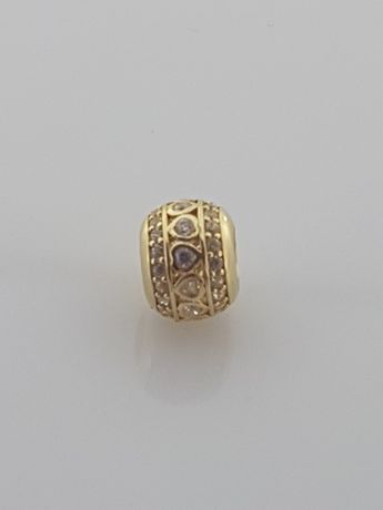 Złoty element charms na bransoletkę Pandora 14k.Nowy (354)
