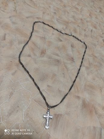 Цепочка и крестик. Серебро 925  13грамм