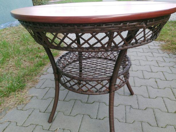 Stół okrągły na taras i ogród wys.73 szer.82 cm.