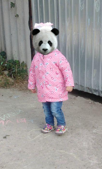 Куртка ветровка пальто на девочку 1-1,5 года Днепр - изображение 1