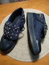Туфли, слипоны, мокасины VIOLETA девочке подростку на стопу 25см.