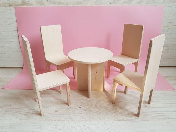 Мебель для кукол, кукольная мебель, игрушечный стол, игрушечные стулья
