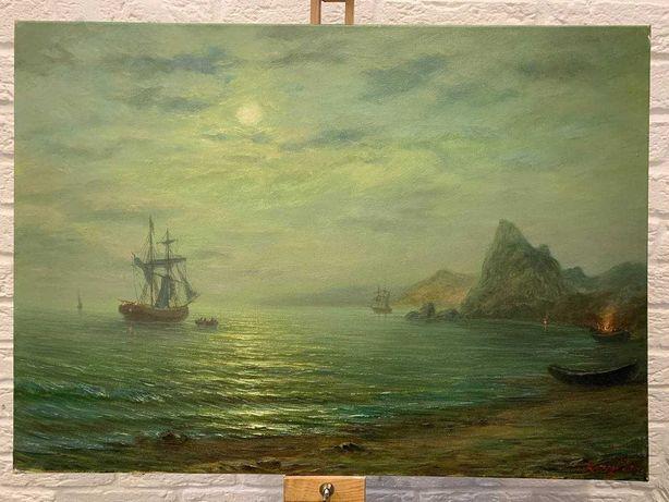 """Картина маслом на холсте """"Дыхание моря"""""""