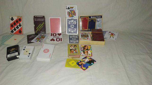 Карты игральные советские, пластиковые, покер