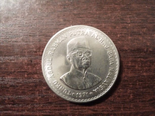 Moneta 5 ringgit Malezja 1971