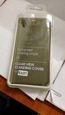 Capa clear view Huawei P8 lite (dourada)