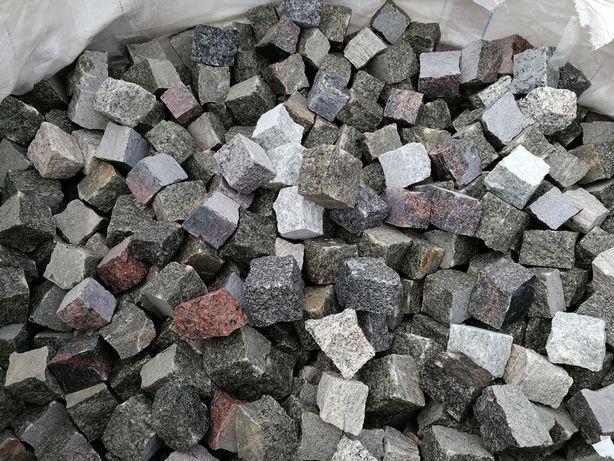 Kostka granitowa mozaika 4/6, mix kolorów! brukowa, granit Strzegomski