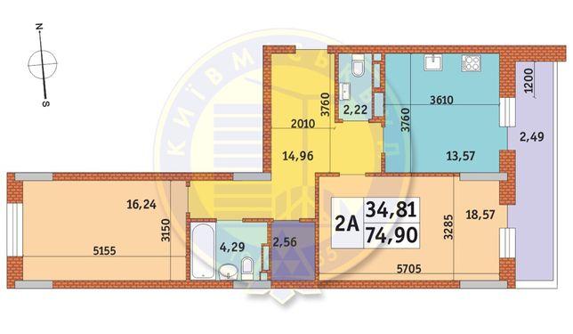 Продажа видовой квартиры на ул. Глыбочицкой 43 Миракс