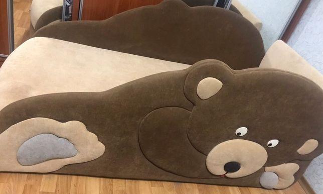 Детская кровать с бортами медведь