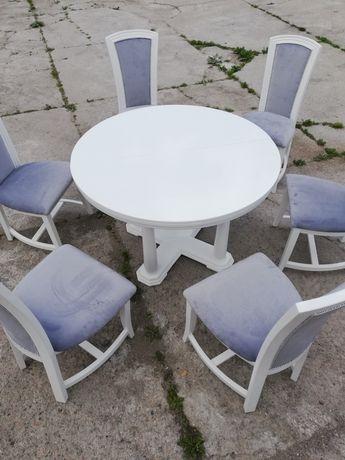 Zestaw jadalniany stół i 6 krzeseł