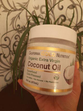Органическое кокосовое масло первого холодного отжима, 473мл