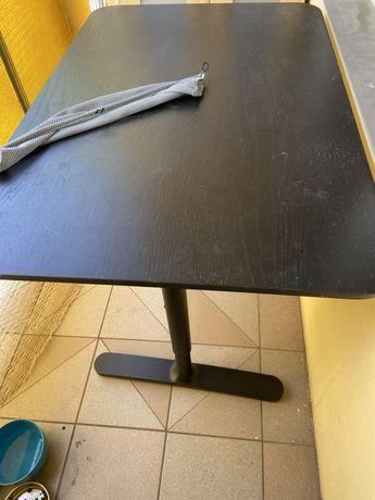 Biurko z Ikea 80 na 120 stan dobry plus krzeslo