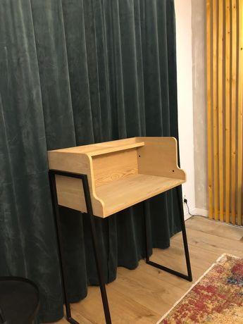 Biurko konsolka loft drewno metal