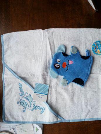 Komplet ręcznik plus myjka