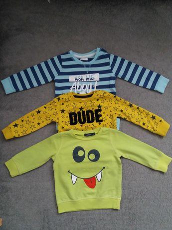 3 szt Bluzy bluzki rozmiar 86(12-18miesięcy) cena za całość