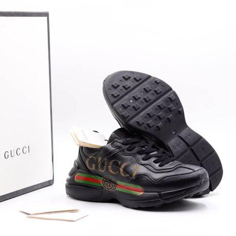 Sneakersy Buty Sportowe Czarne Gucci