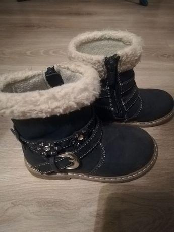 Buty zimowe dla dziewczynki rozmiar 24