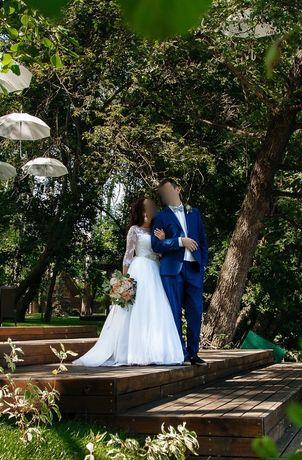 Уступлю в цене! Свадебное платье Dominiss, р. S, белое, не венчанное