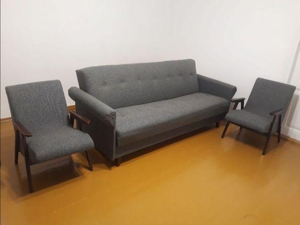 Раскладной диван + 2 кресла