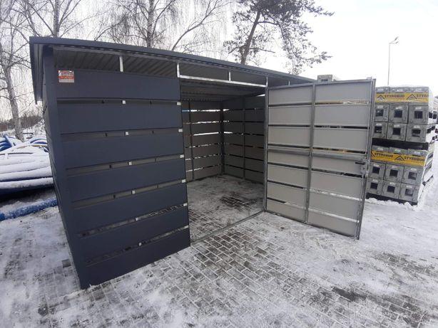 Wiata śmietnikowa 3x3 panelowa