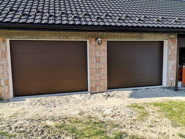 Brama garażowa 3000x2250 brąz z napędem
