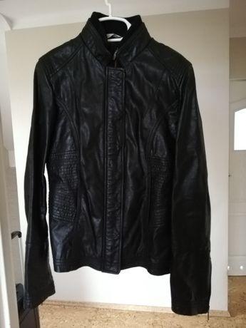 Czarna kurtka Promod S eko skóra