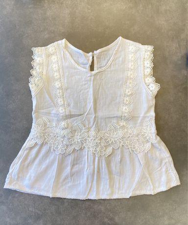 Итальянская белая блузка без рукава, красивое кружево