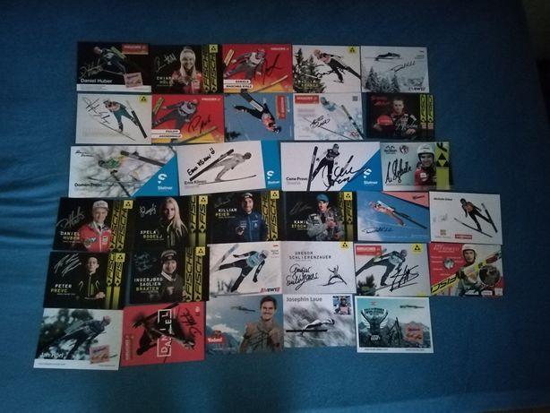 Autografy skoczków narciarskich