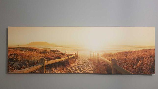 Obraz na płótnie kanwa/canvas plaża morze słońce 140cm x 45cm