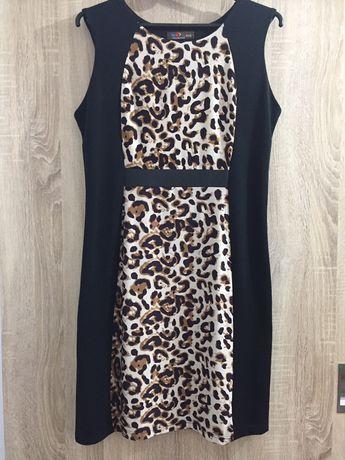 Damska sukienka rozmiar XL 42/44 wstawka panterki