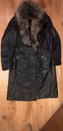 Пальто натуральная кожа,пальто демисезонное