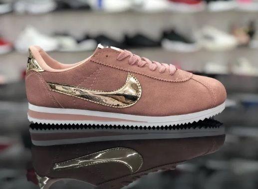 Nike Cortez/ Rozmiar 39 Pudrowe Różowe - Złote *WYPRZEDAŻ*