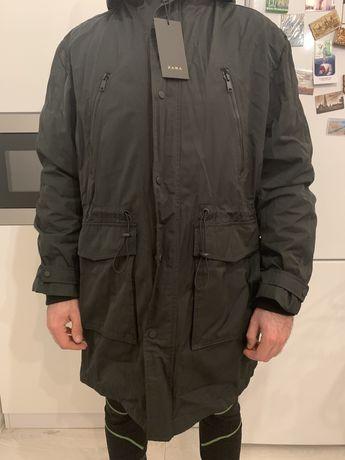 Весняна Куртка-парка 2 в 1. ZARA чоловіча XL
