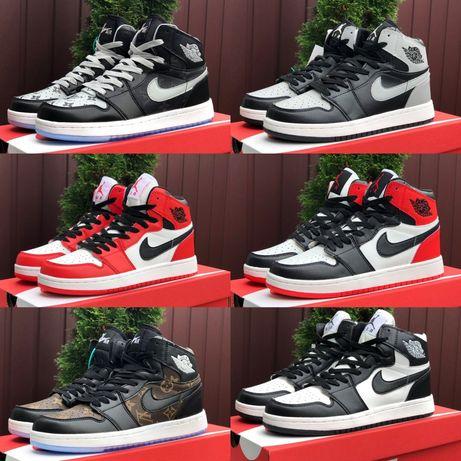 Женские кроссовки кожаные высокие Nike air Jordan LV 23-25,5см хайтопы