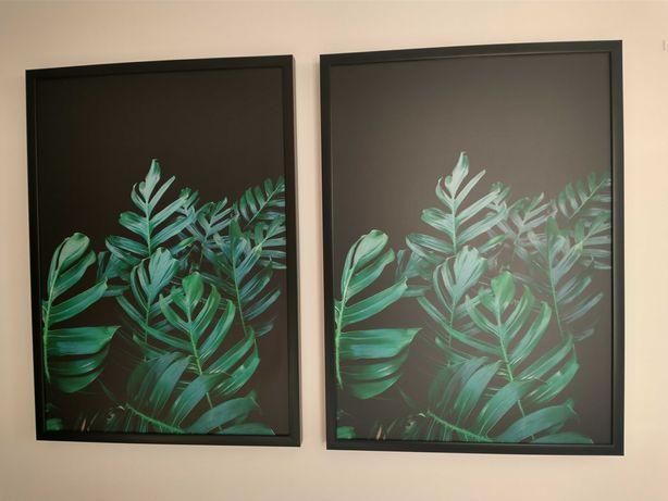 Dwa obrazy o wymiarach 73x53cm