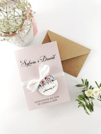 Kwiatowe zaproszenia ślubne