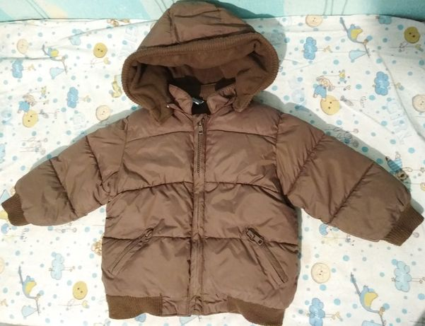 Теплая курточка на 1-2 года холодная осень, теплая зима