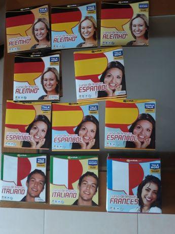 Curso de línguas: Espanhol, Alemão, Italiano e Francês