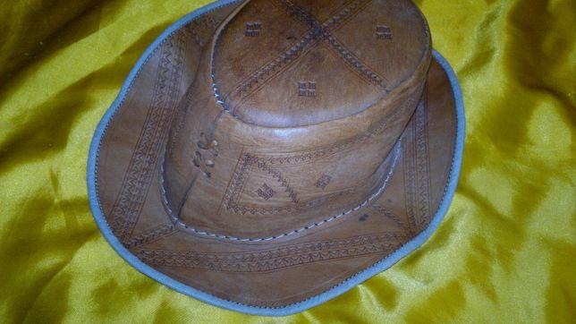 kapelusz ze skóry-56cm obwód głowy