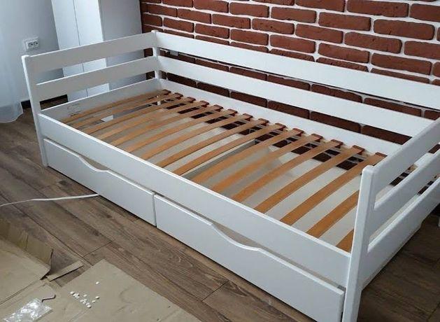 Ліжко дитяче біле букове