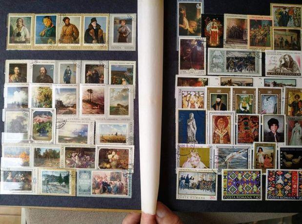 Klaser 581 szt znaczków Polska Europa Azja znaczki