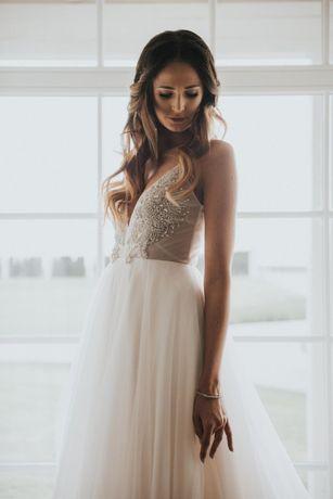 Suknia ślubna Laurelle model La Silva 34/36 Swarovski plus welon grati