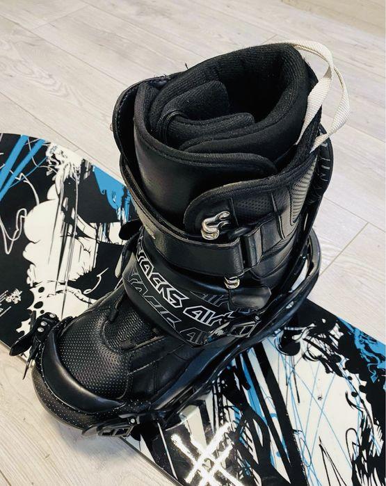 Snowboard+wiazania AIRTRACKS JUNGLE 159 cm Buty 43 Jak nowa Jastrzębie-Zdrój - image 1