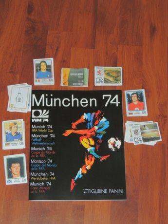 Caderneta Panini World Cup Munchen 74 + set completo de cromos